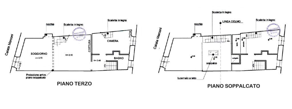 Affascinante appartamento in vendita sulla piazzetta di Portofino - planimetria