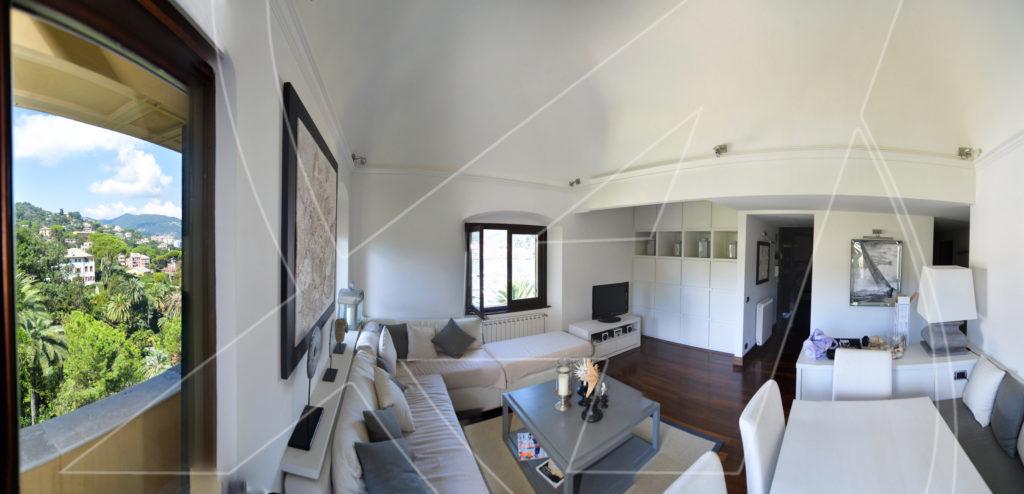RAPALLO Excelsior - Elegante appartamento in affitto in villa vista mare