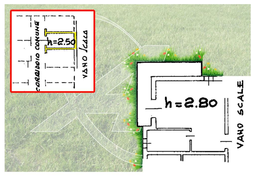 Plan of the studio for sale in Serra di Pamparato