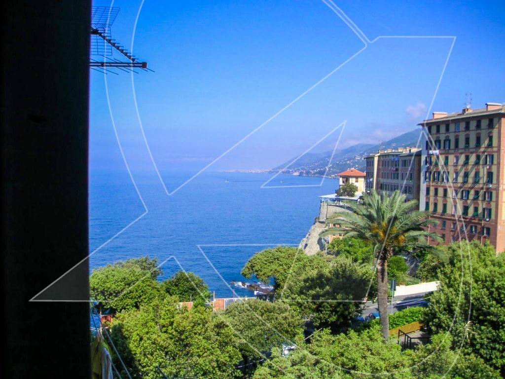 CAMOGLI appartamento vista mare su porticciolo e Golfo Paradiso