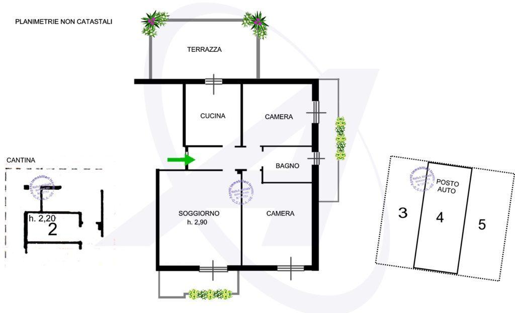 Planimetria appartamento in vendita a Rapallo