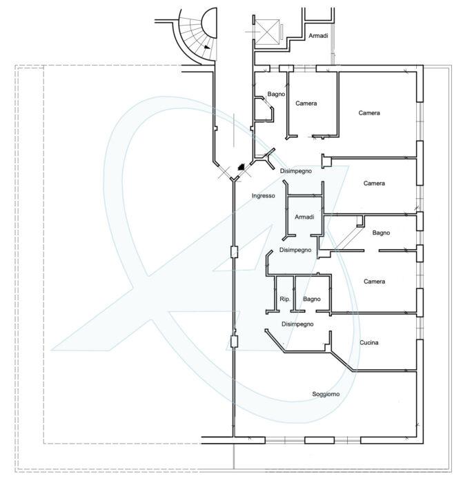 Planimetria Elegante appartamento con garage in vendita sul lungomare di Chiavari