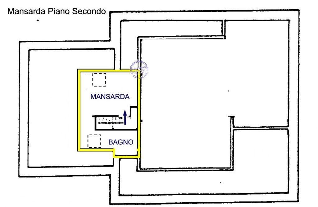 San Michele di Pagana - Appartamento in villa d'epoca vista mare - planimetria