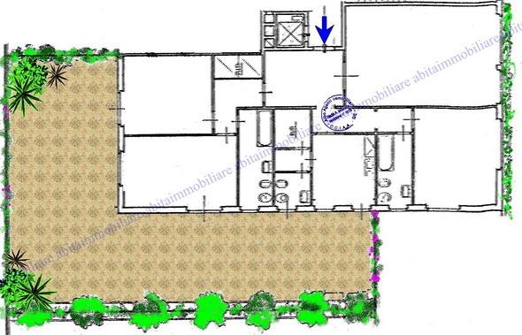 RAPALLO Zona Porto - vendesi appartamento con grande terrazza - planimetria