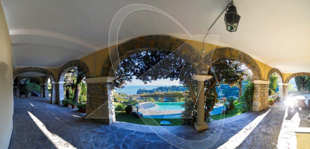 San Michele di Pagana - villa in affitto vista mare con piscina