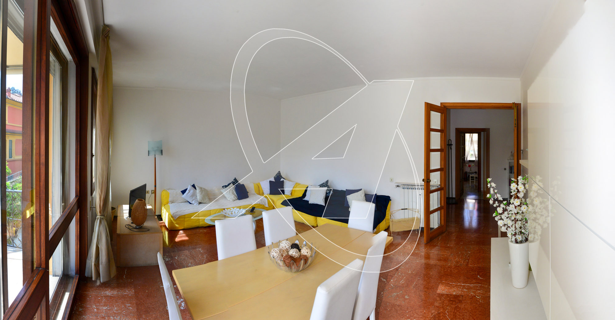 RAPALLO Appartamento in affitto zona porto, con terrazza e 4 camere