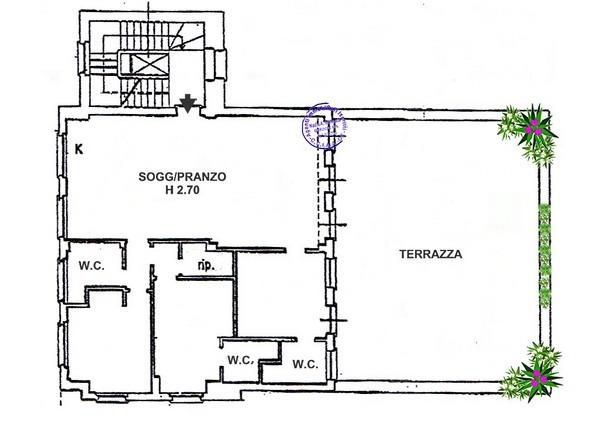 VENDESI a MONEGLIA appartamento con terrazza FRONTE MARE