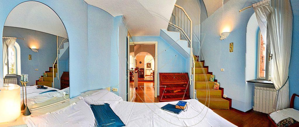 Vendesi appartamento a Zoagli - Camera da letto matrimoniale, con ampia zona guardaroba