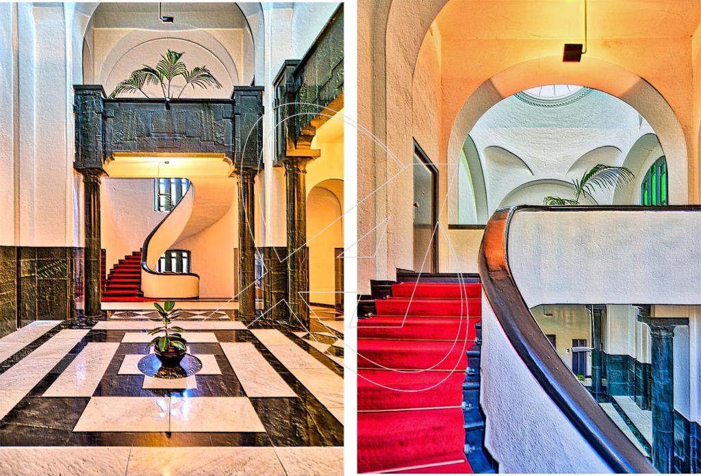 Alcuni particolari del maestoso ingresso del castello Sem Benelli