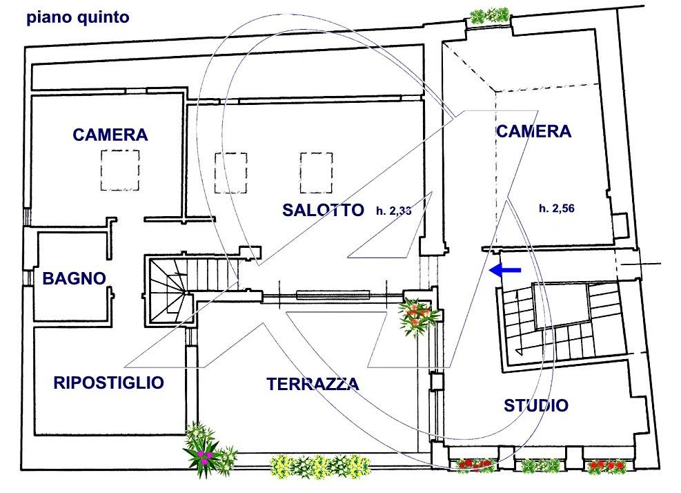 Vendesi ultimo piano con terrazza sul lungomare di Rapallo