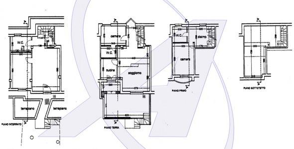 Villetta vista mare in vendita a Zoagli - planimetria