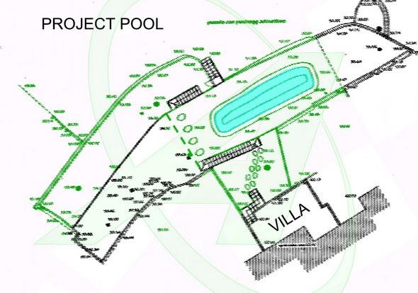 Villetta vista mare in vendita a Zoagli - progetto piscina