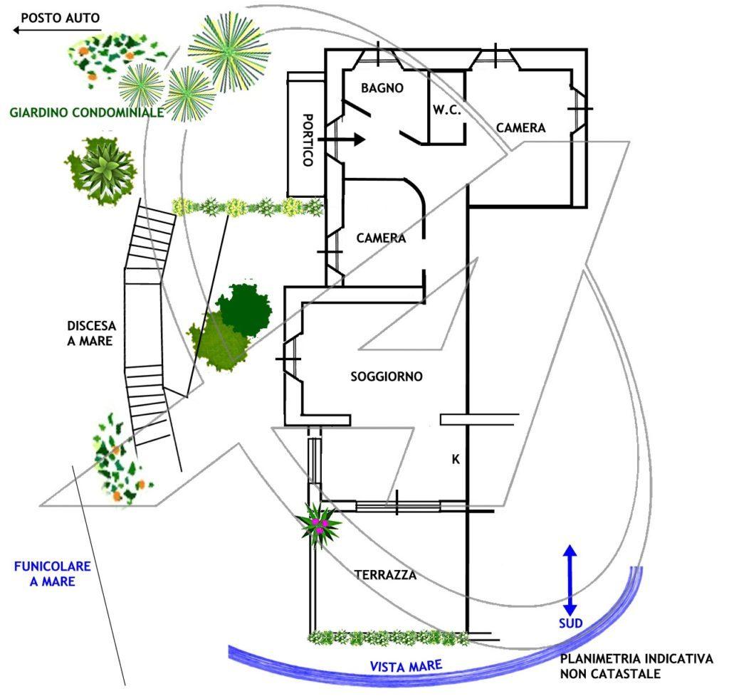 Zoagli vendesi appartamento con terrazza vista mare e spiaggia privata