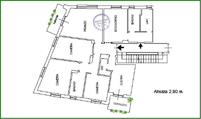 Planimetria S.MARGHERITA LIGURE Vendesi appartamento a pochi passi dal mare